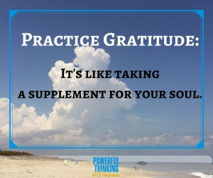 Gratitude: A Supplement For Your Soul